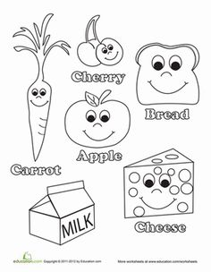 236x304 Healthy Food Coloring Page Worksheets, Kindergarten And Activities