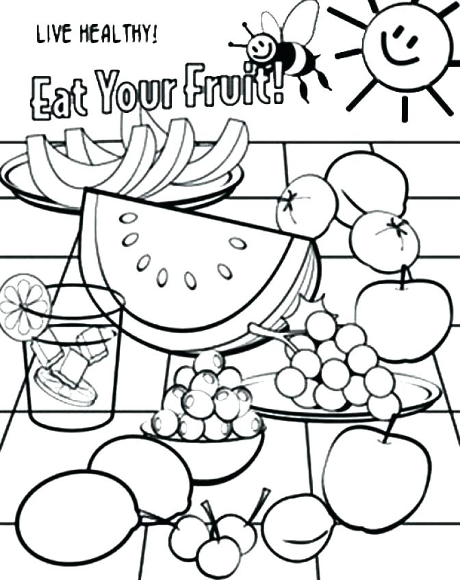 672x847 Healthy Food Coloring Page Healthy Food Coloring Pages Food