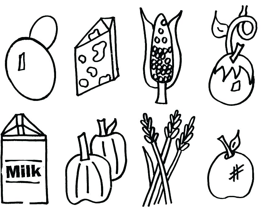 867x700 Healthy Food Coloring Page Healthy Foods Coloring Pages Healthy