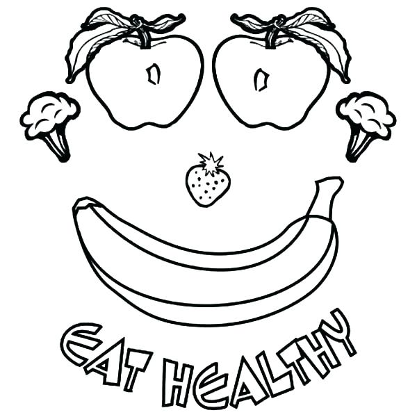 Healthy food drawing at free for for Healthy habits coloring pages