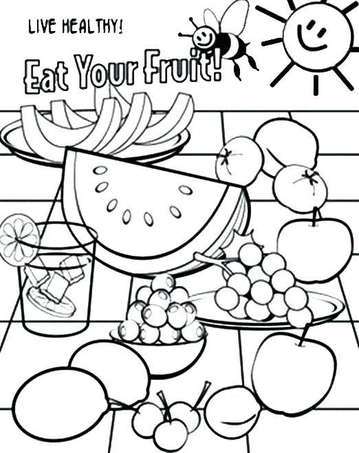 522x657 Food Coloring Books And Healthy Food Coloring Page Healthy Eating