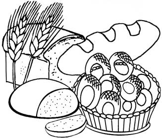bread cereal rice pasta coloring pages | Healthy Foods Drawing at GetDrawings.com | Free for ...