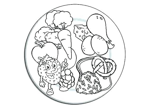 600x464 Healthy Food Coloring Page Healthy Eating Coloring Pages Coloring