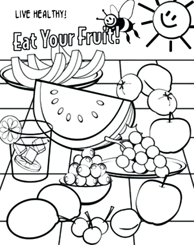 672x847 Healthy Food Coloring Pages Food Coloring Pages Healthy Fruit