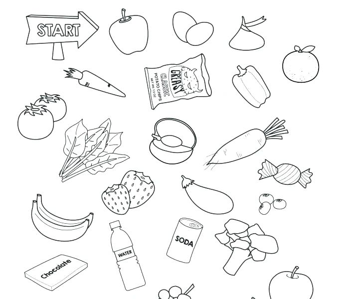 678x600 Healthy Food Coloring Pages Healthy Food Coloring Pages Printable