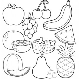 268x268 Coloring Pages Graceful Food Coloring Pages Donuts Junk Page