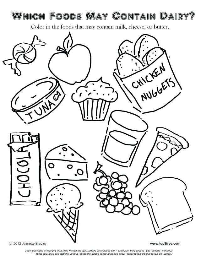 640x828 Coloring Pages Of Healthy Foods Coloring Pages Of Healthy Foods