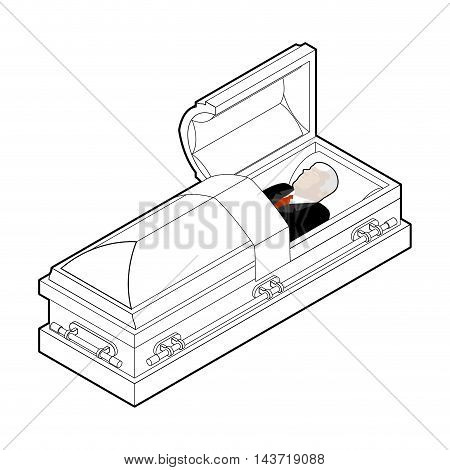 450x470 Deceased Coffin. Dead Man Lay Vector Amp Photo Bigstock