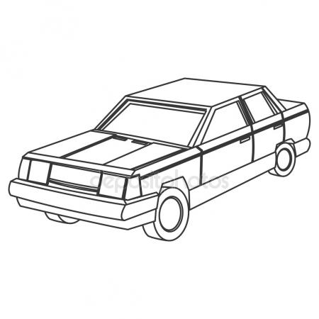 450x450 Hearse Icon, Outline Style Stock Vector Ylivdesign