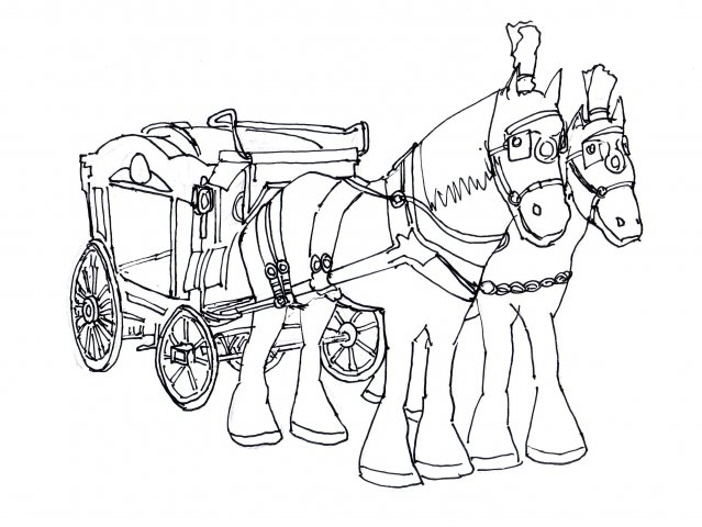 639x480 Horse Drawn Hearse