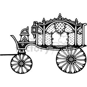 300x300 Royalty Free Antique Hearse 1 387367 Vector Clip Art Image