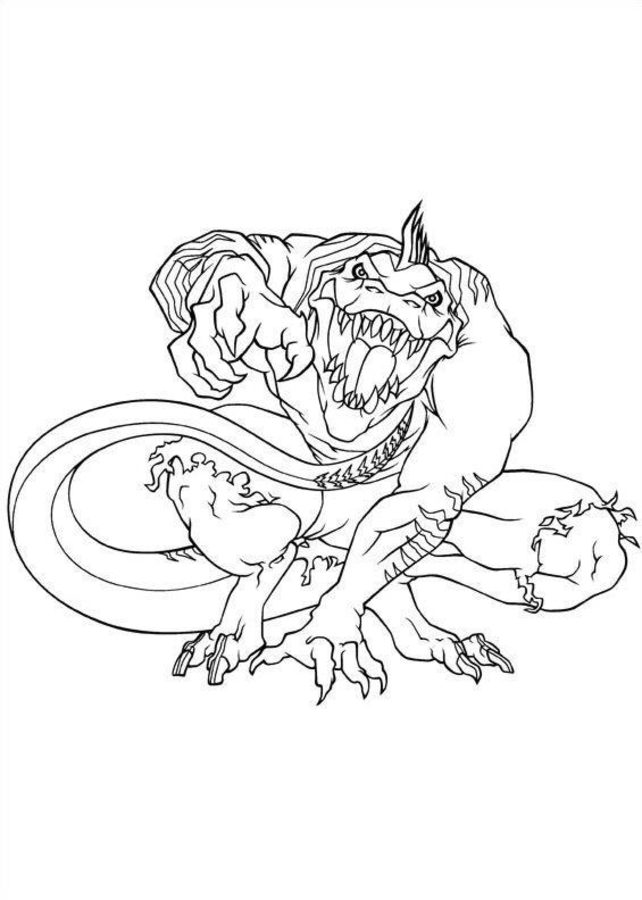 642x900 Coloring Pages Lizard Curt Connors, Printable For Kids Amp Adults