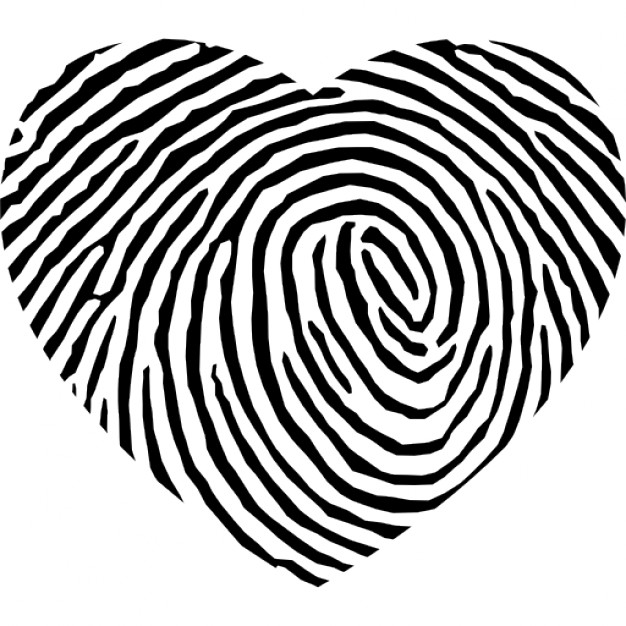 626x626 Fingerprint Heart Shape Icons Free Download