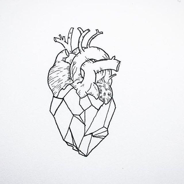 640x640 A Geometric Heart Tattoos Geometric Heart