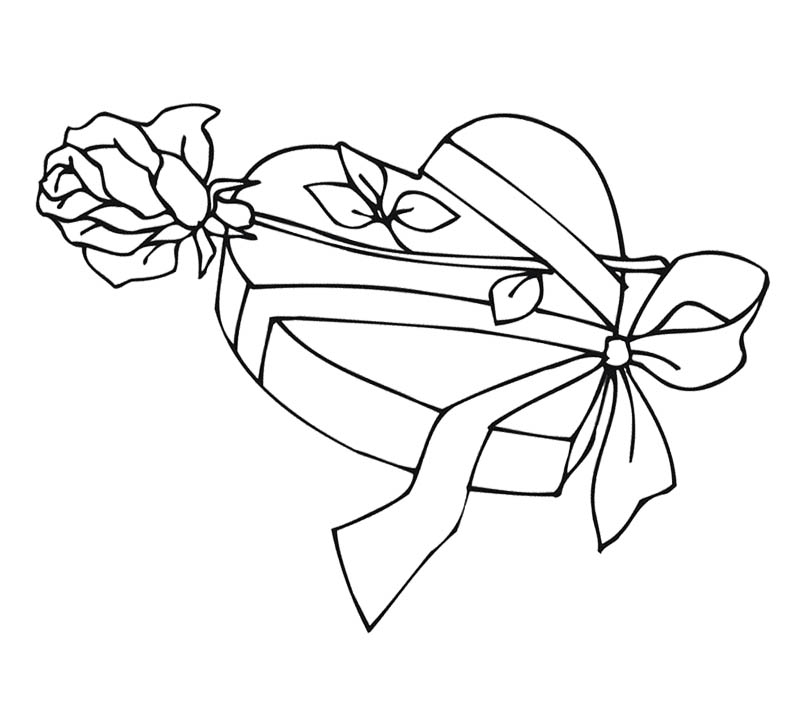 800x721 Heart With Roses Coloring Pages