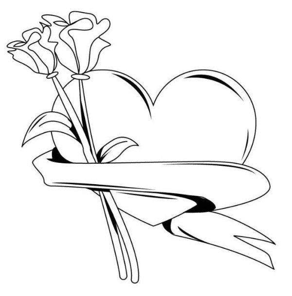600x609 Coloring Pages Of Hearts With Arrows
