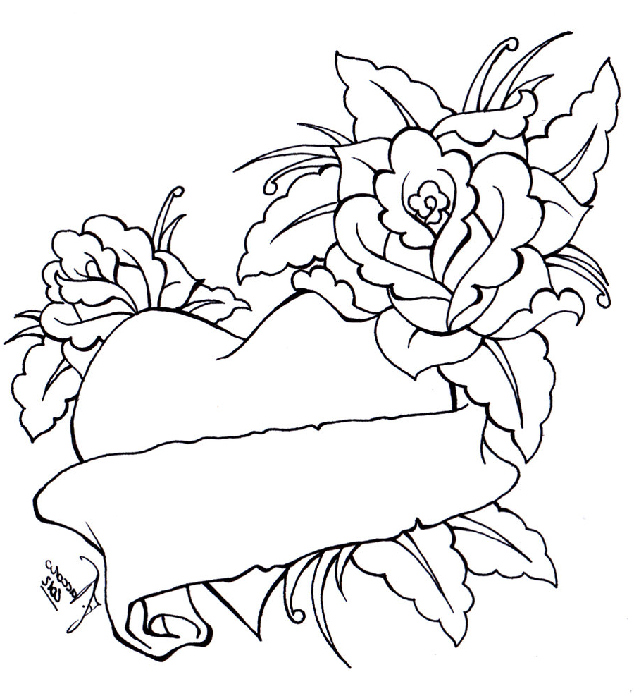 900x987 Tattoo Designs Roses And Hearts Images About Heart, Rose