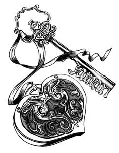 Heart And Key Drawing At Getdrawings Com Free For Personal Use