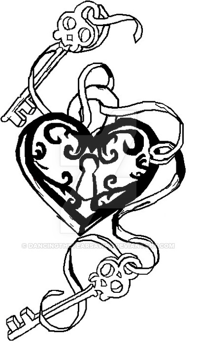400x699 My Key Heart Design In B And W By Dancingthetearsaway