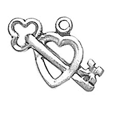 394x395 925 Sterling Silver Simple Classic Loving Key To My
