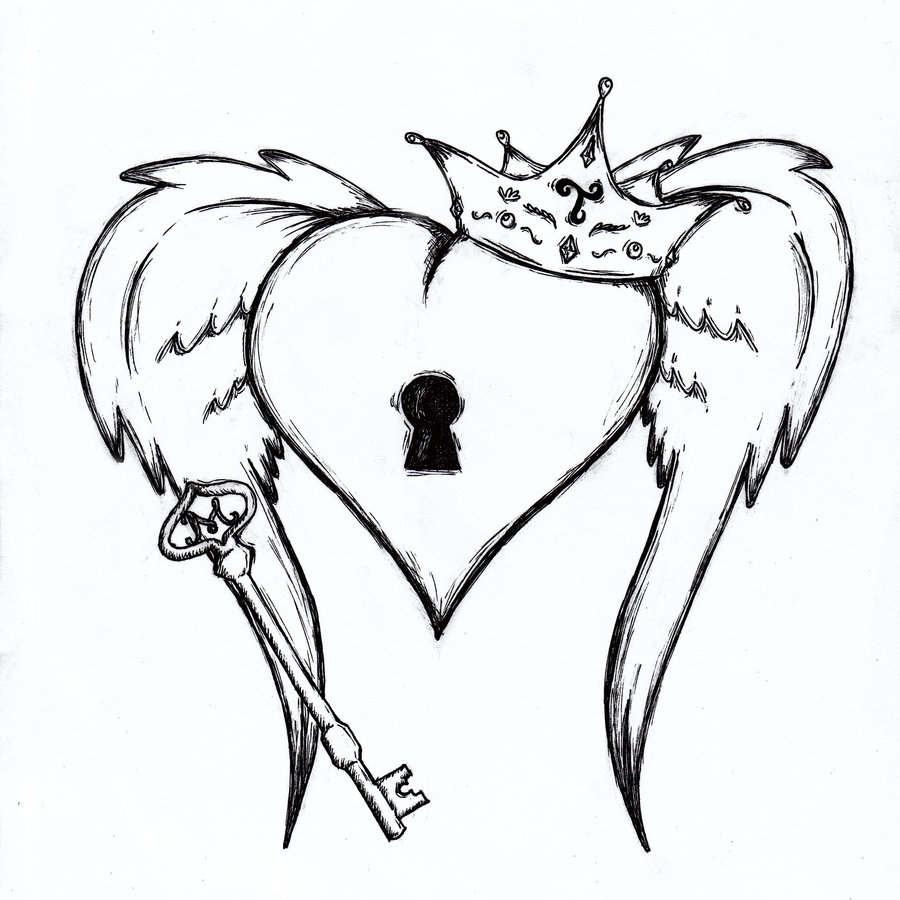 900x900 Cool Drawing Of Hearts Heart Sketches Key To My Heart Sketch By