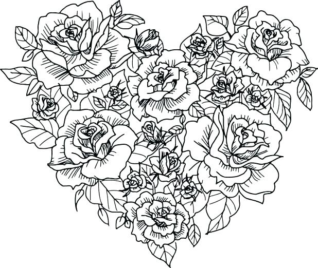 Heart And Rose Drawing at GetDrawings.com | Free for personal use ...