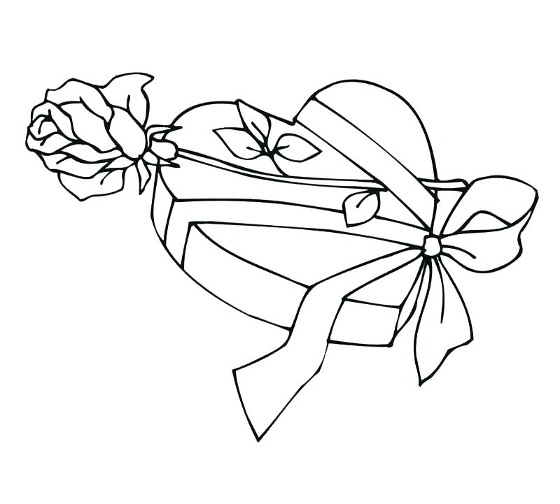800x721 Epic Heart And Rose Coloring Pages Image