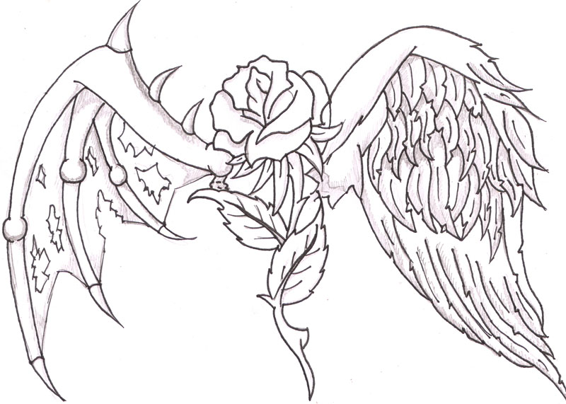 800x571 Coloring Pages Of Hearts With Wings And Roses Color Bros