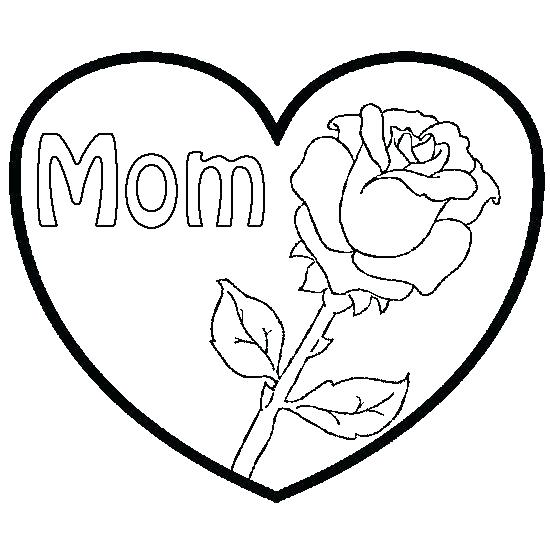 550x550 Coloring Pages Roses And Hearts Roses And Hearts Coloring Pages