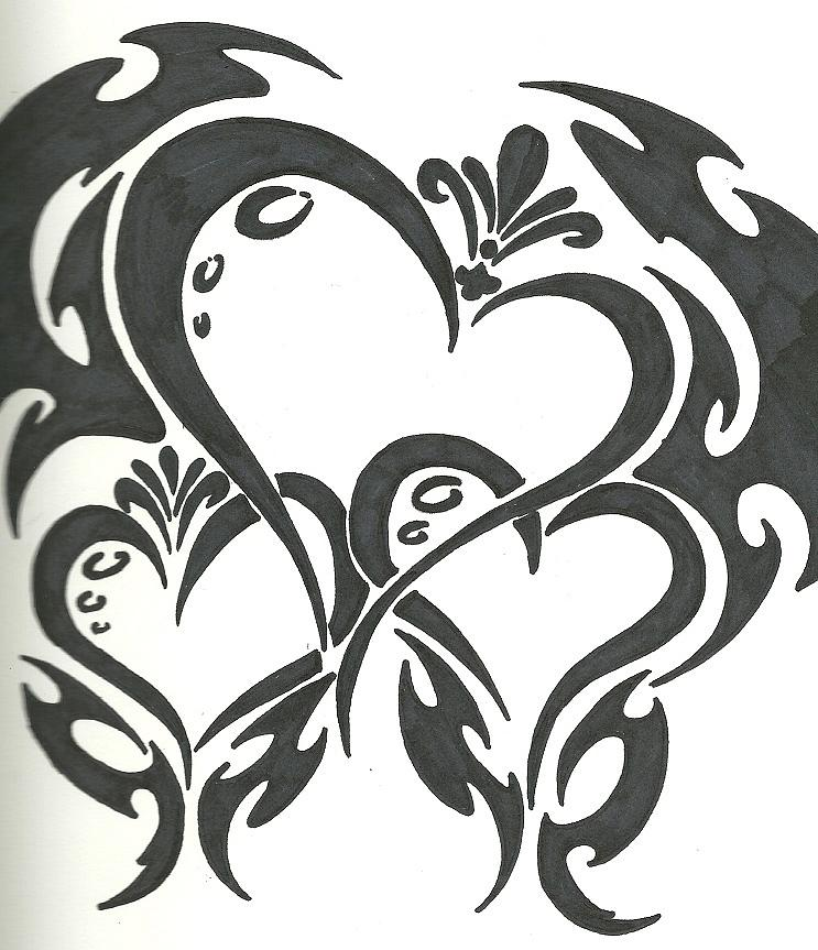 743x863 Hearts Drawing By Danielle Martinez