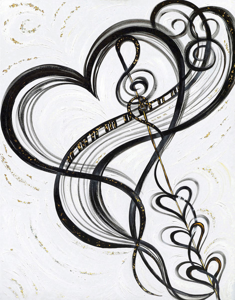 471x600 Musical Heart Art Collection