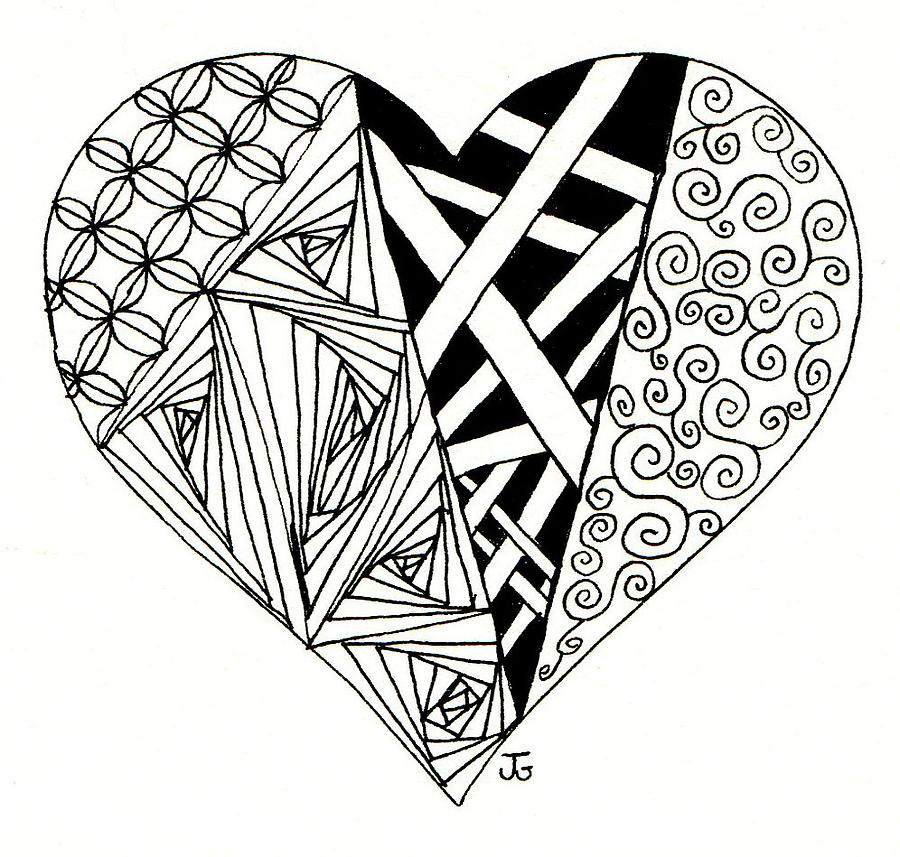 900x857 My Heart Drawing By Jennifer C Griffen