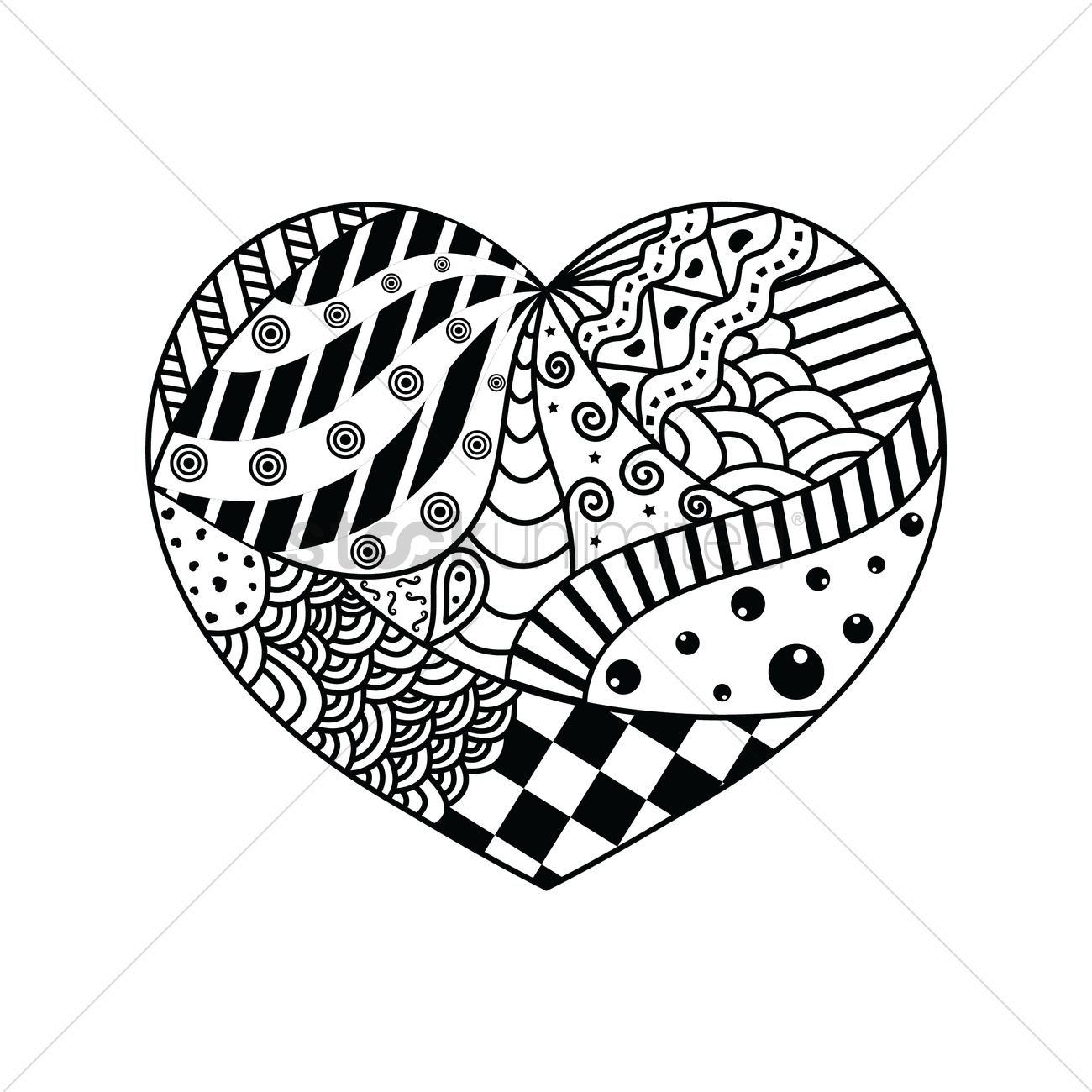 1300x1300 Decorative Heart Design Vector Image