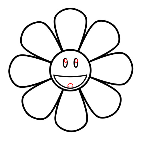 500x495 Drawing A Cartoon Sunflower