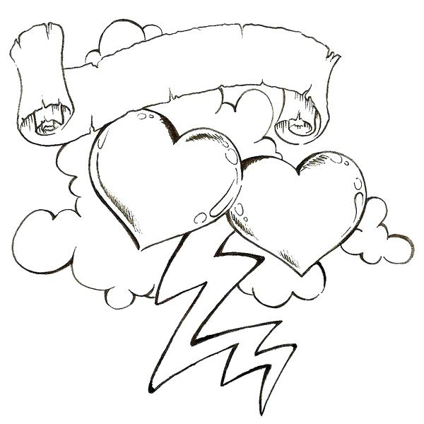 600x600 Awesome Heart Drawings Cfresearch.co