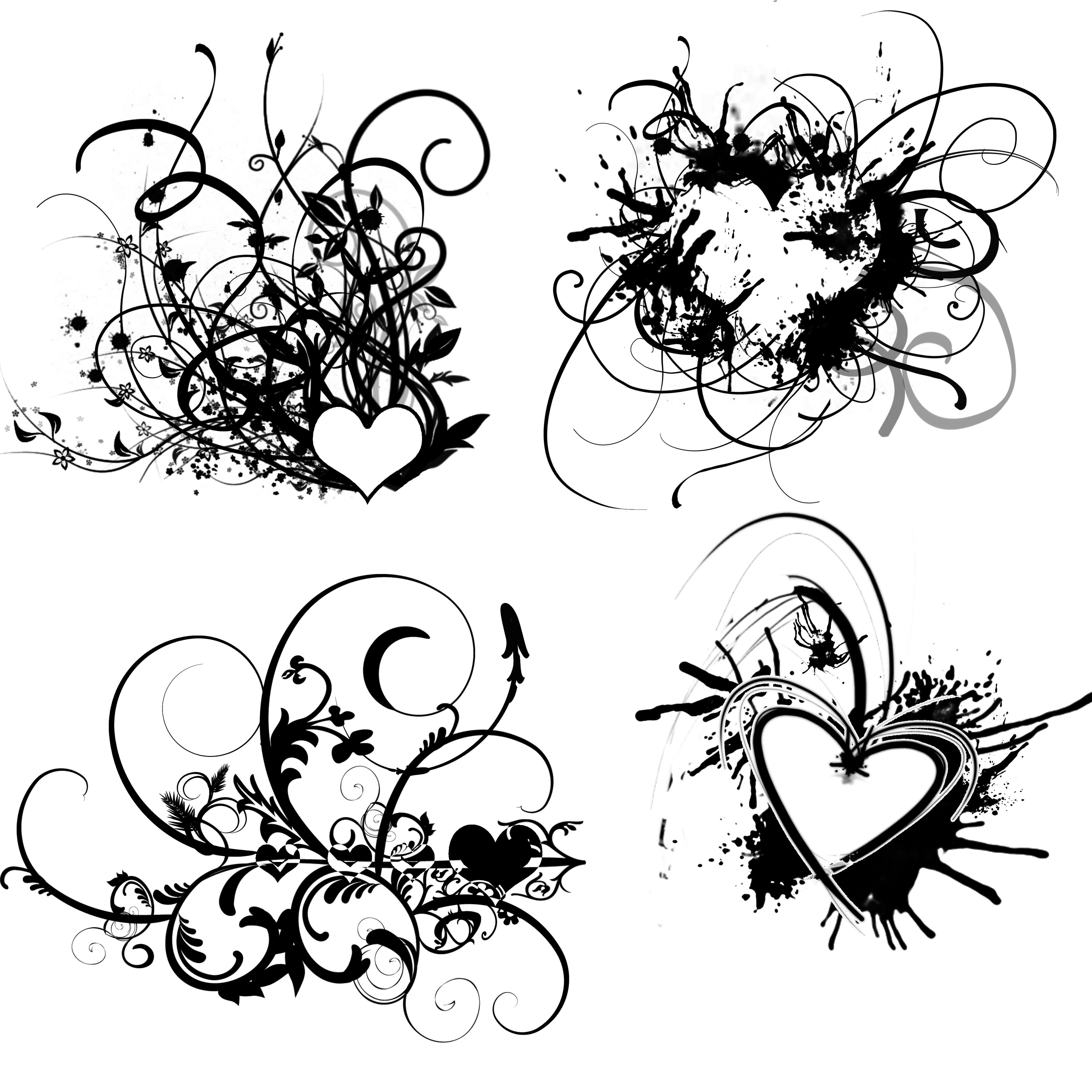 4500x4500 Heart Design Drawing