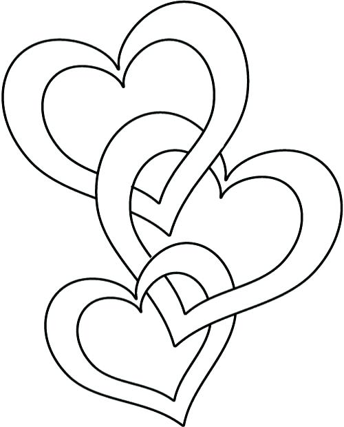 500x620 Heart Printable Coloring Pages Synthesis.site