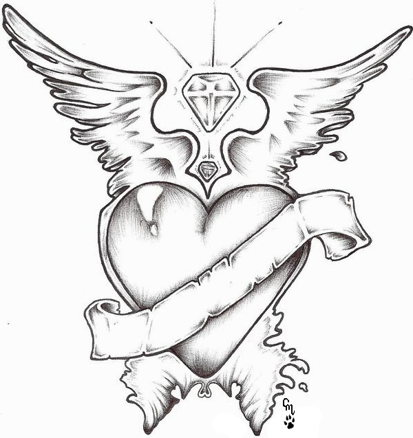 600x637 Heart Design By Moonwolfangel On Random