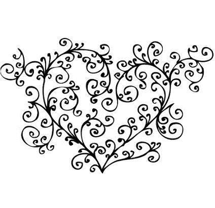 424x411 Heart Tattoo Designs