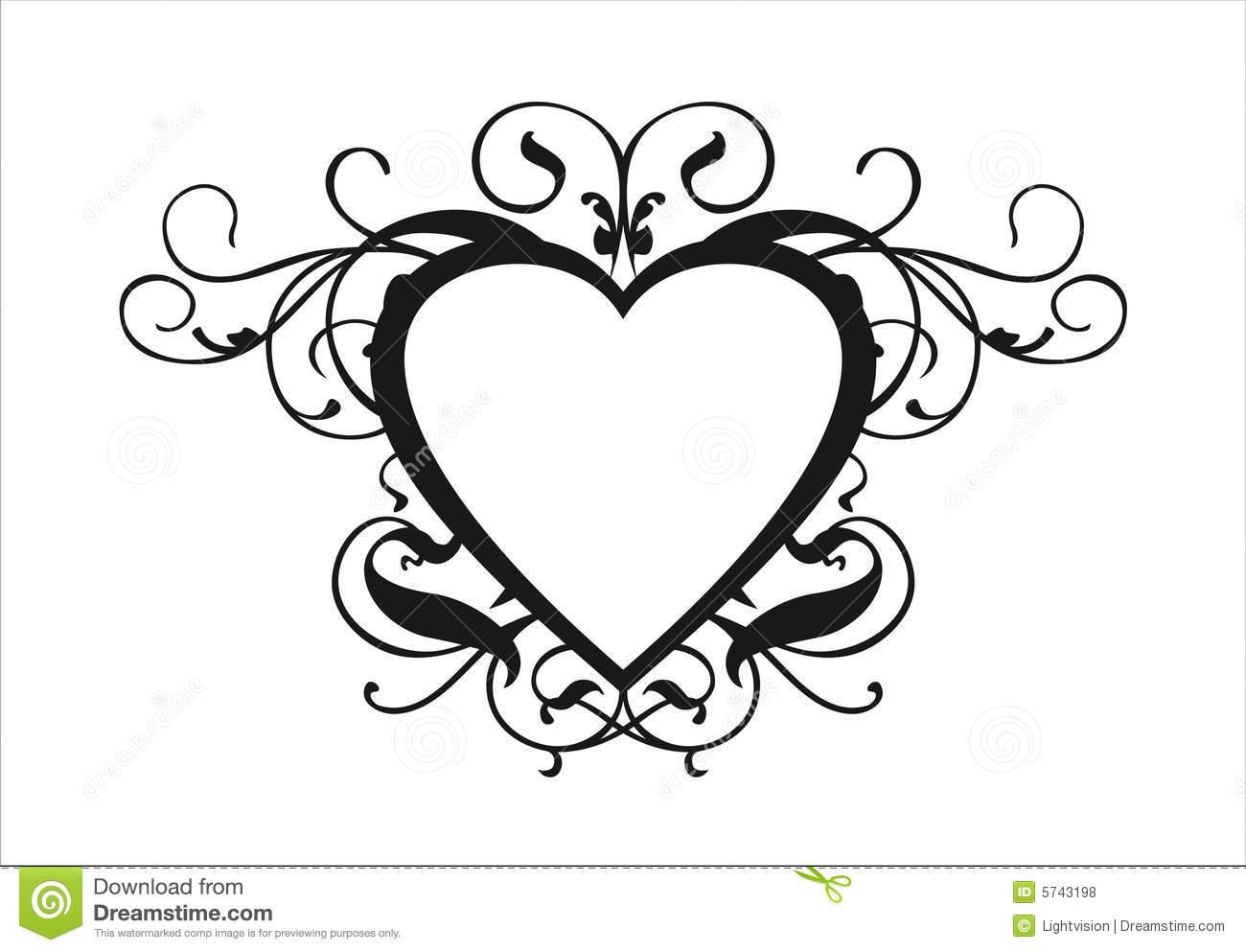 1300x993 Wedding Heart Design Clipart