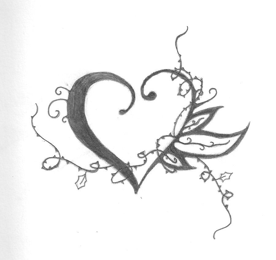 900x848 Tattoo Design Heart And Thorns By Shayterzm