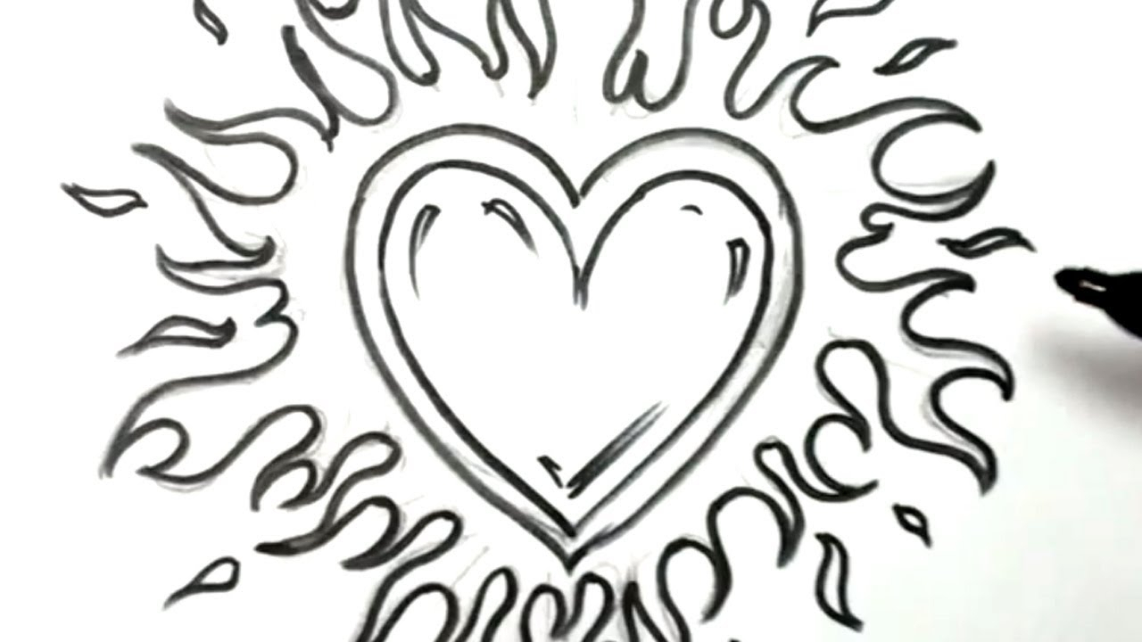 1280x720 Cool Love Heart Drawings Cool Heart Designs To Draw Clipartco Cool