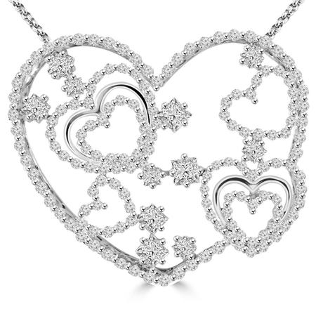450x450 Heart Shaped Diamond Pendant Bijoux Majesty