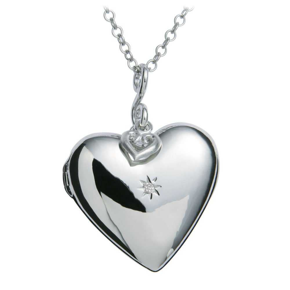 1000x1000 Hot Diamonds Dp132 Starry Heart Locket Pendant 30