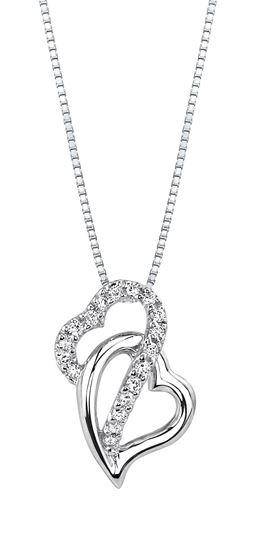 253x550 Husar's House Of Fine Diamonds. 14kt White Gold Crisscross Double