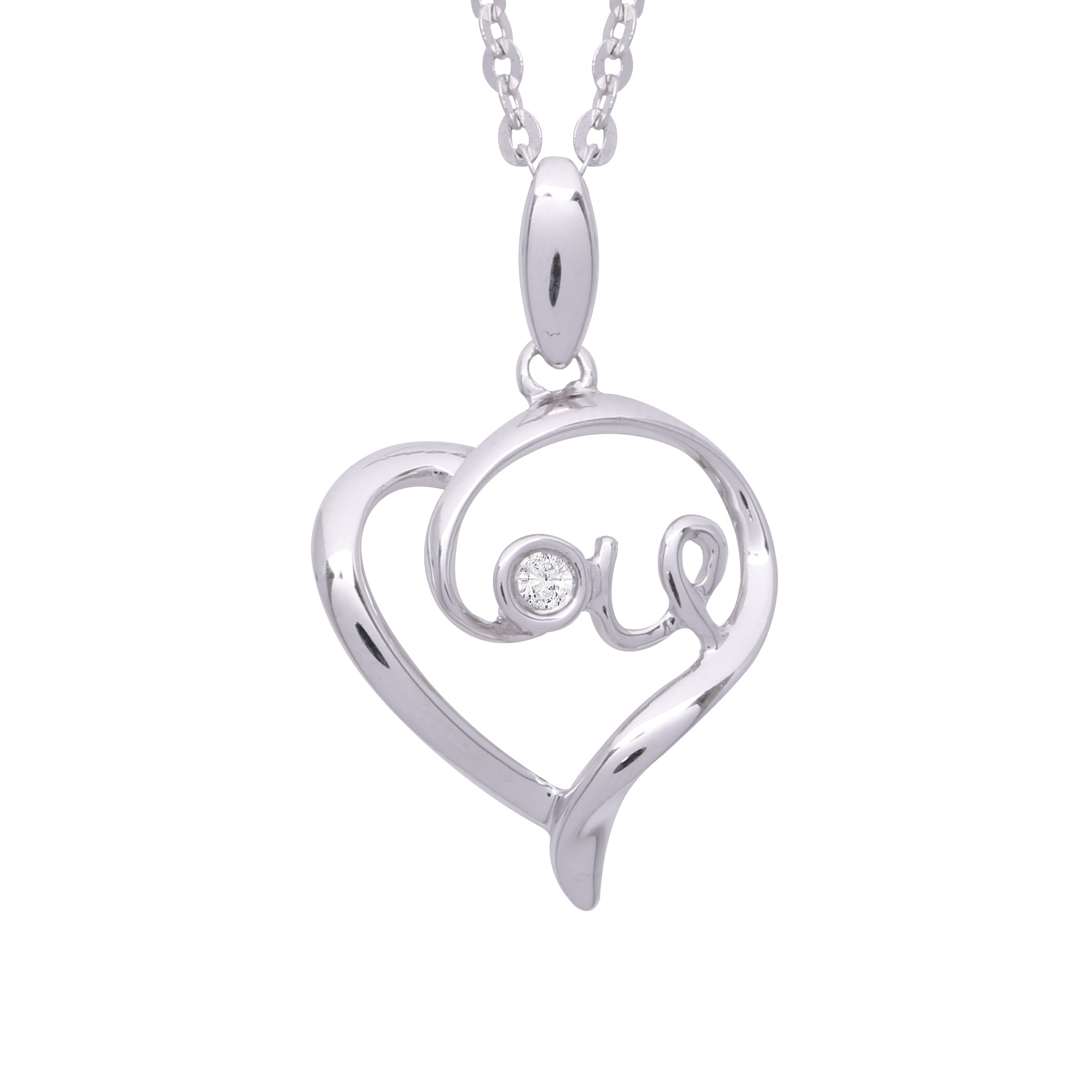 1995x1995 Lovey Heart 9k Diamond Pendant Dpb375 Lazo Diamond