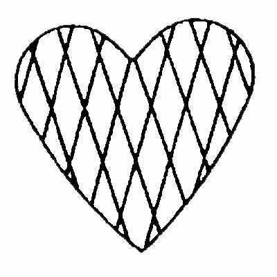400x400 Purple Daisy Design Bit 132 Diamond Heart