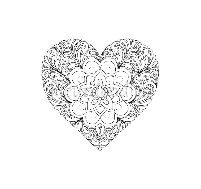 850x800 Coloring Page Heart Printable Download Love Colouring