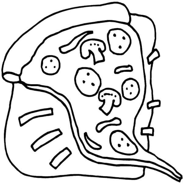 600x606 Heart Disease Becasuse Of Junk Food Pizza Coloring Page Heart