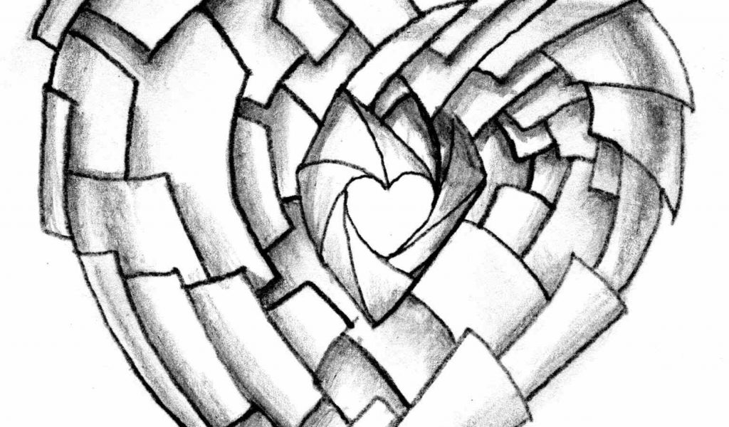 1024x600 Graffiti Roses Black And White Black And White Rose Heart Drawing